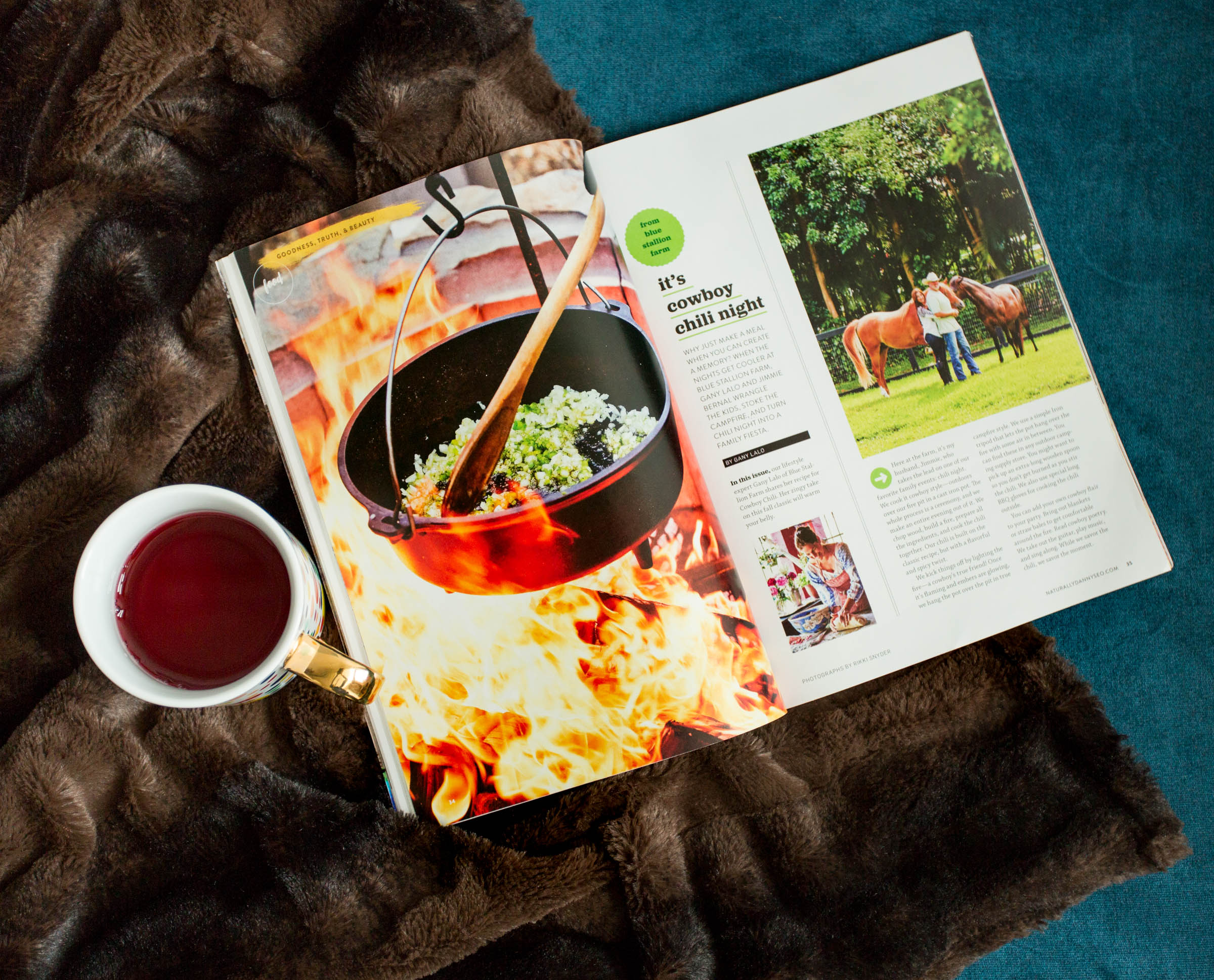blue stallion farm feature in Naturally, Danny Seo Magazine