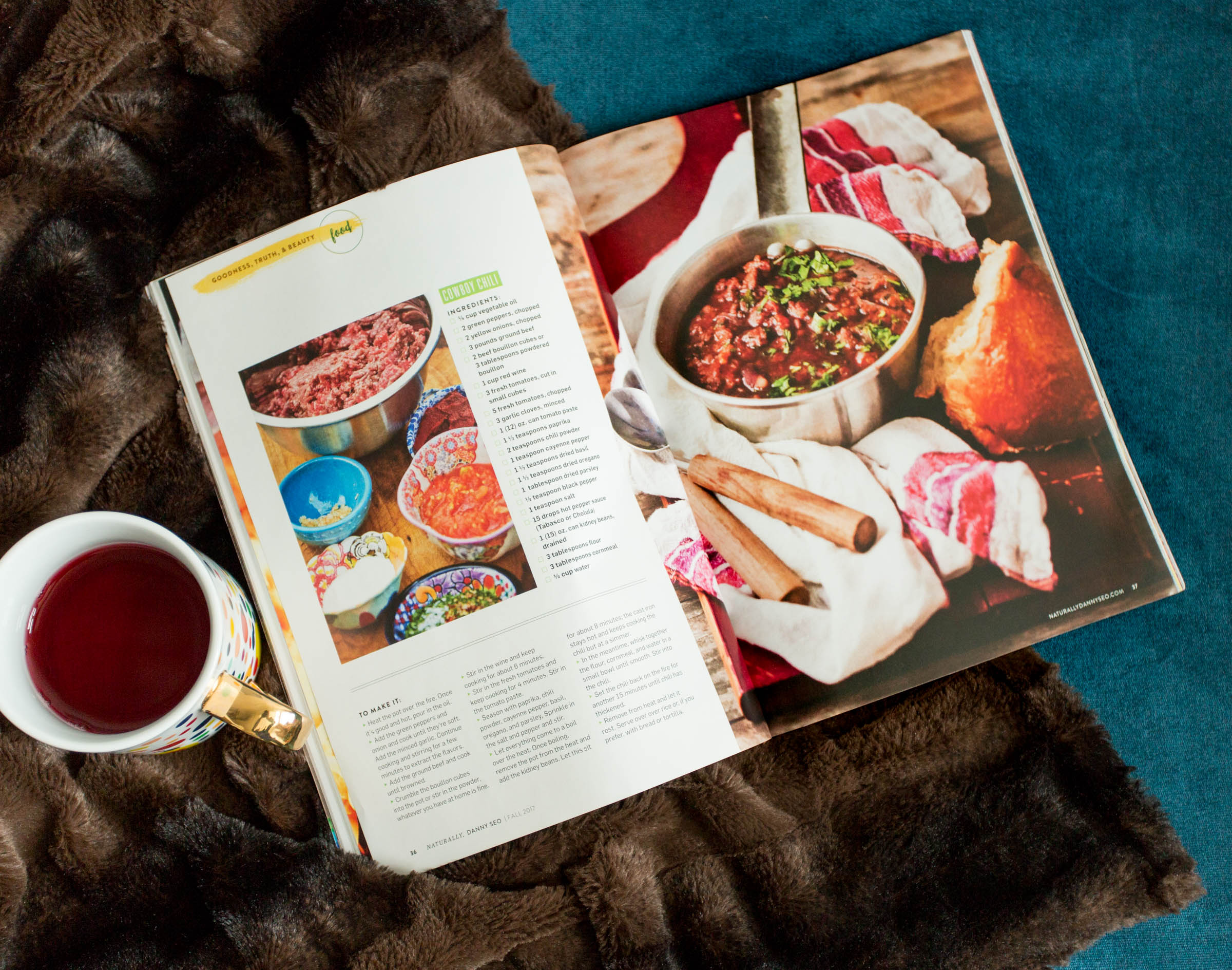 Cowboy chili recipe featured in Naturally, Danny Seo Magazine