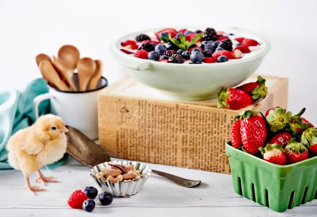 homemade yogurt with berries